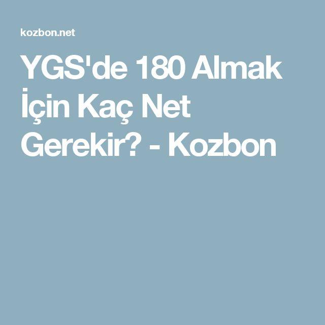 YGS'de 180 Almak İçin Kaç Net Gerekir? - Kozbon