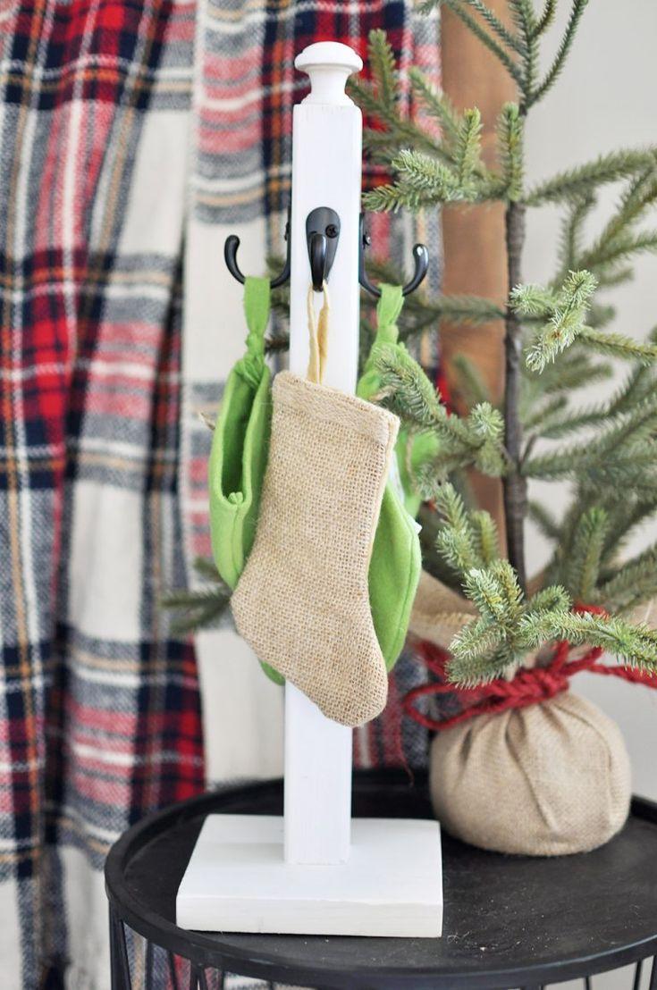 DIY Christmas Stocking Pole