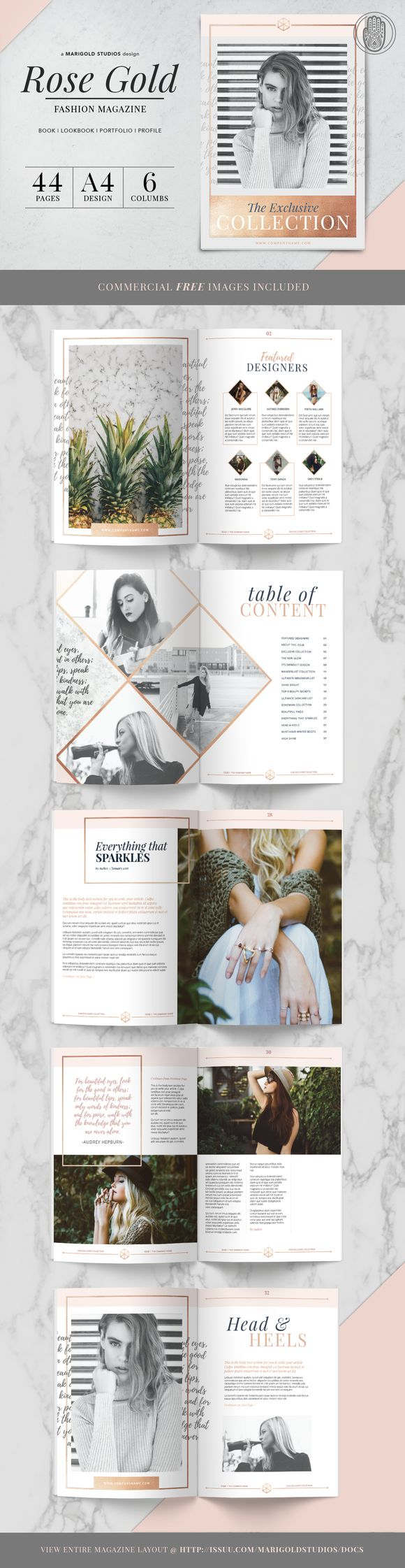 This is the magazine template I bought for my pricing guide that I'm designing.