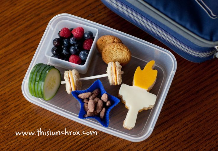 Olympic themed bento box lunch for kids
