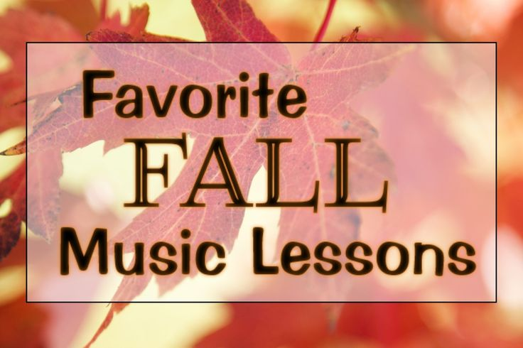 Organized Chaos: Teacher Tuesday: favorite fall music lessons. Link up with…