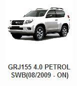 Toyota > Toyota 4x4 Parts > Toyota Land Cruiser Parts > GRJ155 4.0 PETROL SWB(08/2009 - On)