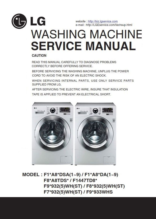 Lg F12a8tda Washer Service Manual And Troubleshooting Guide Washing Machine Service Lg Washing Machines Appliance Repair