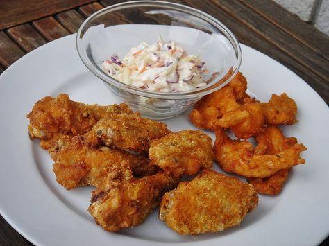 Nem vagyok mesterszakács: Házi KFC menü: csirkeszárnyak és csirkemell csíkok fűszeres-ropogós bundában amerikai káposztasalátával