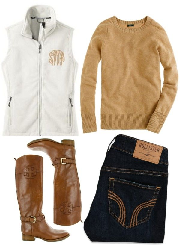 Lv the tan mono pn white with jeans and boots....