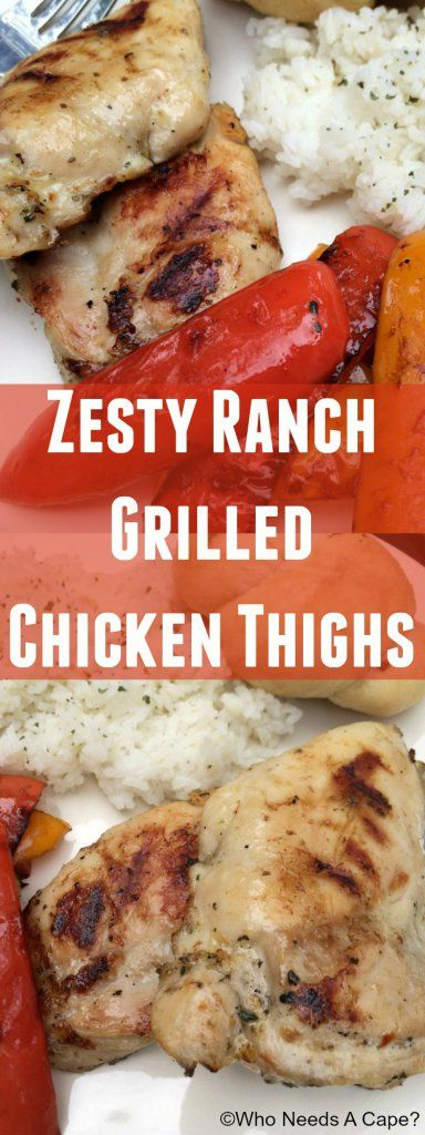 Zesty Ranch Grilled Chicken Thighs #ad #GatherRoundGrilling