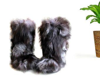 Real Fur Boots Secretfashionlabel.etsy.com