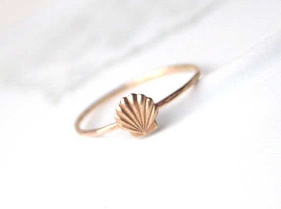 Brass Little Shell Ring by proteales on Etsy, $25.00