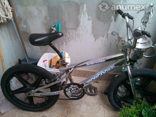 Bicicleta R20 Cromada con rines de aspas