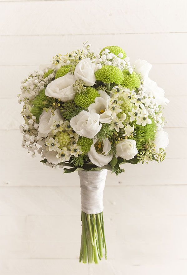 Bouquet da sposa bianco e verde - Persunit.com