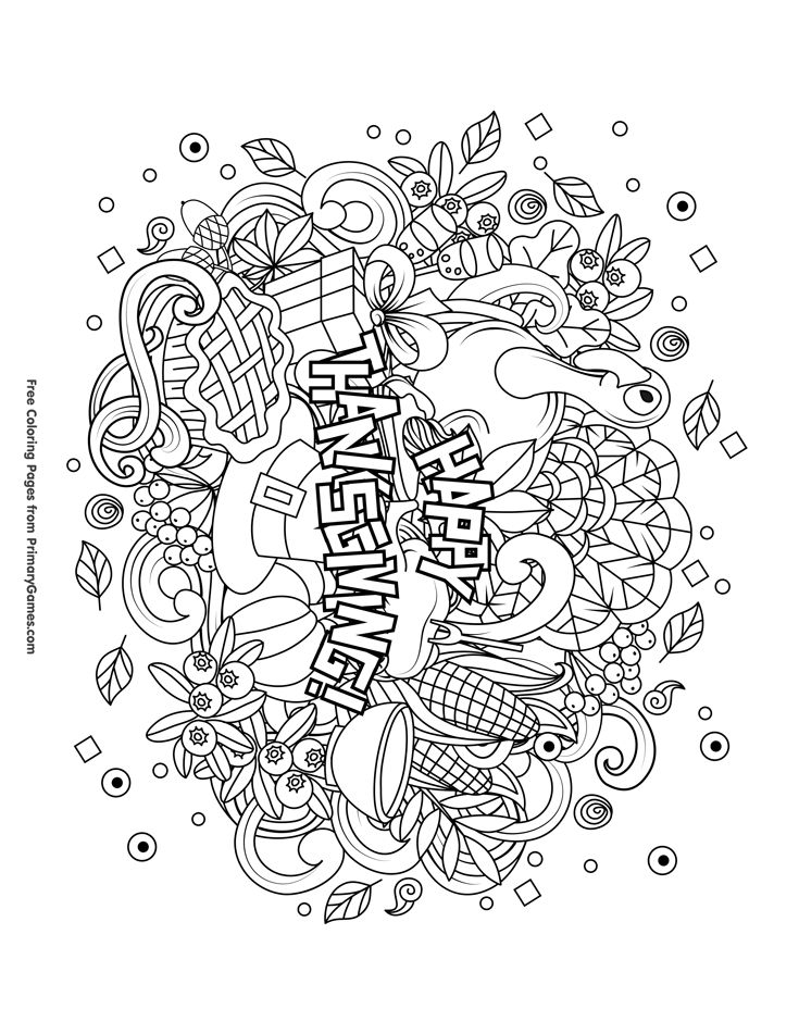 Thanksgiving Coloring Pages eBook