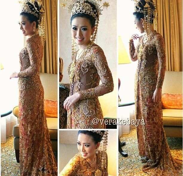 Vera Kebaya Pengantin Long Dress Cantik