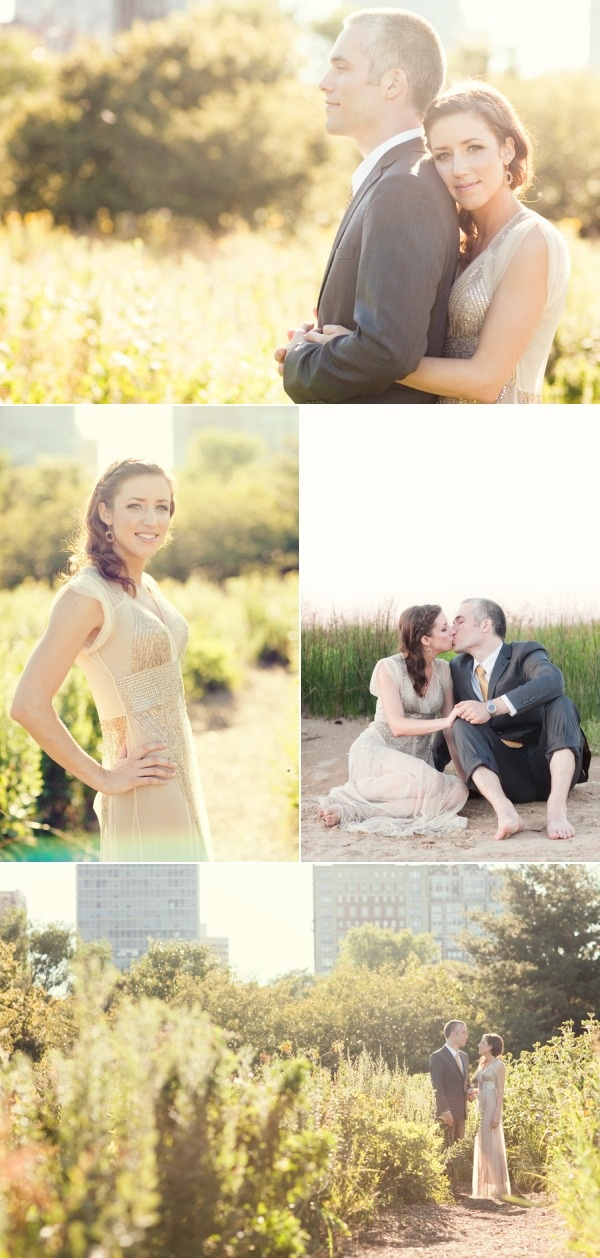 Chicago Pre-Wedding Portrait Session from Ashley Biess Photography | Style Me Pretty