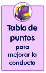 Recursos para descargar de Educación Infantil, tabla de puntos para mejorar la conducta e instrucciones de uso