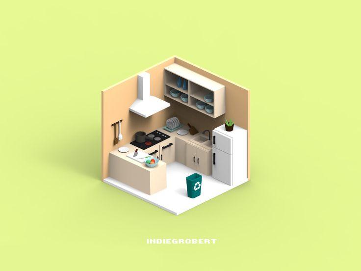 ArtStation - kitchen, ruimin zhu