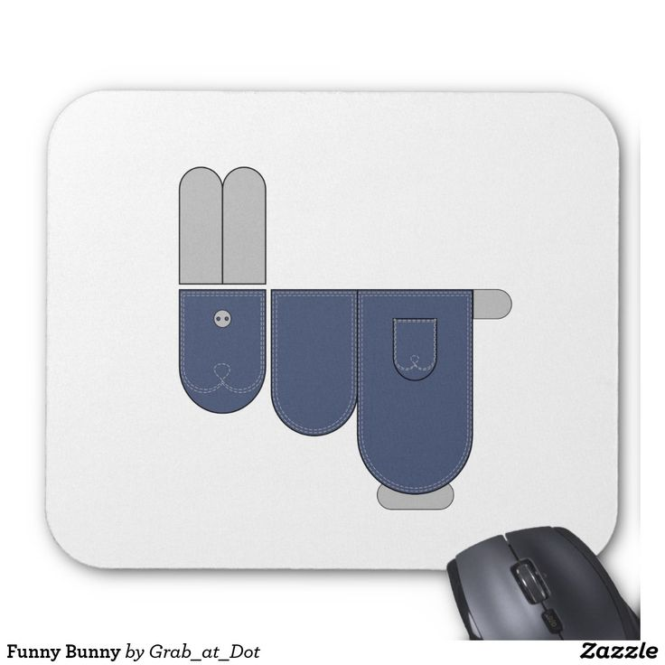 Funny Bunny Mouse Pad