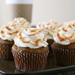 Pumpkin Spice Latte Cupcakes (There is nothing I DON'T like in those four words :)): Pumpkin Spice Latte, Sweet, Cupcake Recipe, Food, Latte Cupcakes, Spices, Dessert