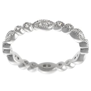 @Overstock.com - Tressa Sterling Silver Cubic Zirconia Vintage Eternity Ring - Eternity cubic zirconia vintage-style ringSterling silver ringClick here for ring sizing guide  http://www.overstock.com/Jewelry-Watches/Tressa-Sterling-Silver-Cubic-Zirconia-Vintage-Eternity-Ring/7458418/product.html?CID=214117 $31.99