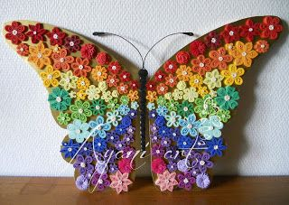 Quilled rainbow butterfly:
