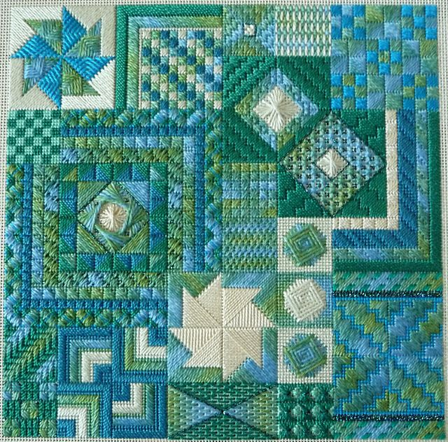 This is actually needle work, but wouldn't it look great as a quilt?