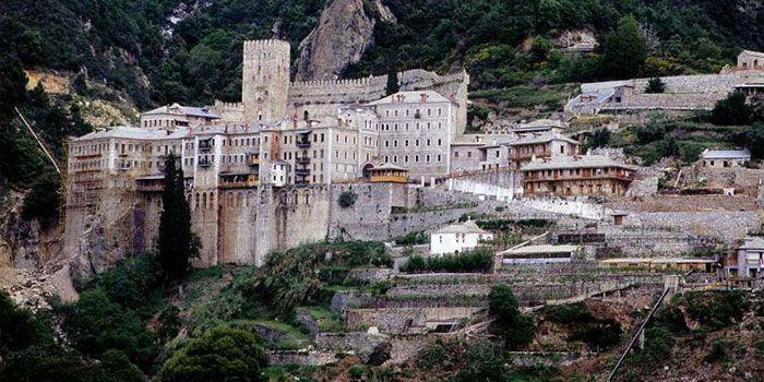 VISIT GREECE  Monastery of Agios Pavlos in #Athos #Macedonia #Greece