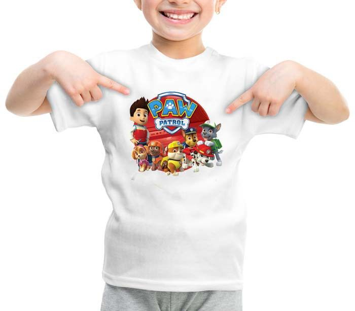 Paw Patrol Car on Tour graphic printed youth toddler tshirt