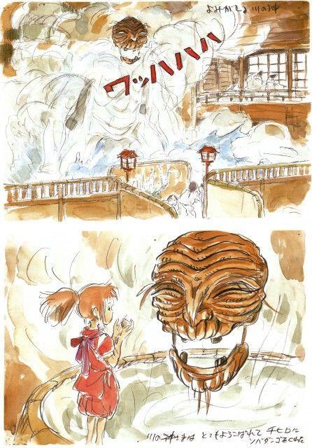 千と千尋の神隠し もののけ姫スタジオジブリの原画集崖の上の