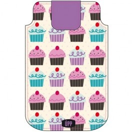 Universeel telefoonhoesje: Gebakjes, cupcakes | telefoon insteekhoesjes | UPP | @Laura Muller Wenskaarten