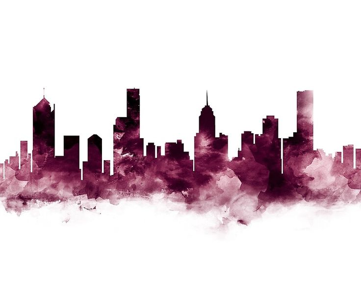 Melbourne Skyline #melbourne #australian #skyline #landscape #cityscape #art #prints #color #gift #ideas #shopping