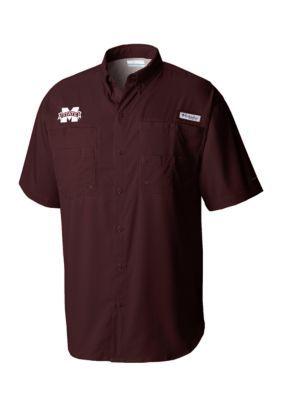 Outdoor Custom Sportswear Mississippi Short Sleeve Tamiami - Dp Maroon - 2Xl