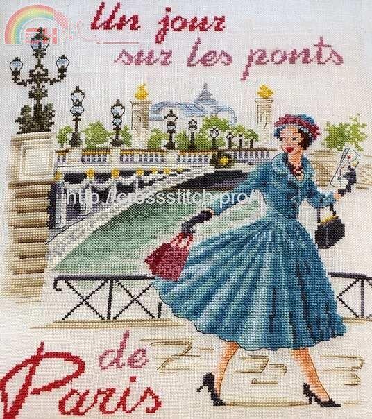 [Neu]Les Brodeuses Parisiennes-Un Jour à Paris-Pont Alexandre III in XSD. - Powered by www.pindiy.com