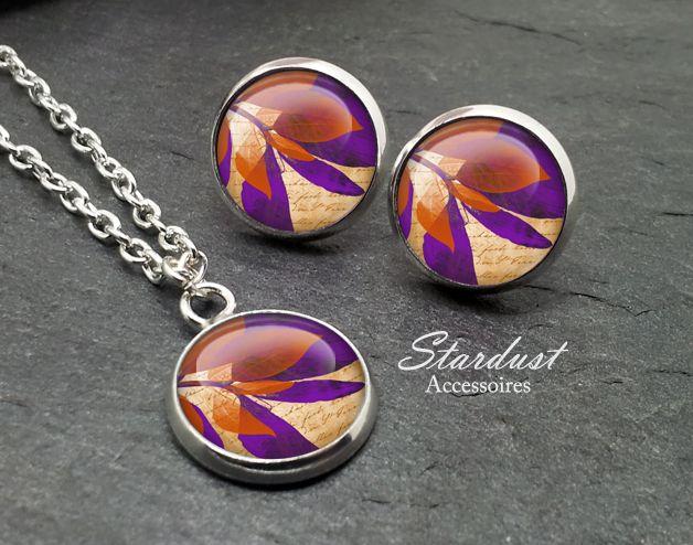 Schmuckset silber ♥ Blätterwerk I ♥ von Stardust Accessoires auf DaWanda.com