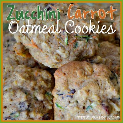 Zucchini Carrot Oatmeal Craisin Cookies | MomOnTimeout.com