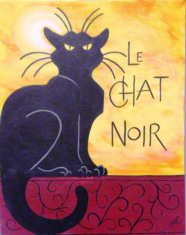 Le Chat Noir needlepoint canvas