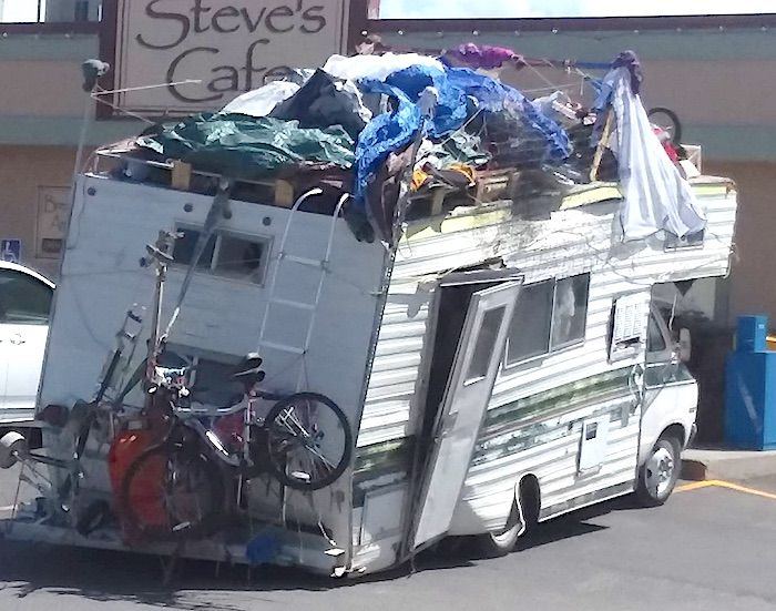 Is This The Most Beat Up Junky Motorhome In America Motorhome Rv Travel Recreational Vehicles