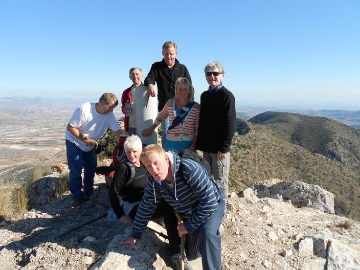 Our Walking Group... made it to the top! Hondon Valley, Spain