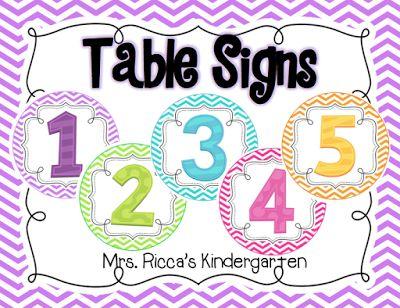 FREE... https://www.teacherspayteachers.com/Product/Chevron-Table-Numbers-2064188