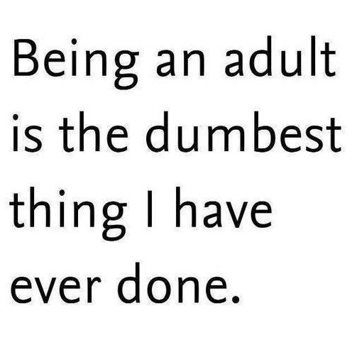 Not Adult funny saying