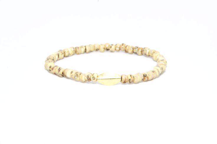 18K Solid Yellow Gold Beaded Bracelet Canary Yellow - Men's & Women's Stylish & Unique Bracelets