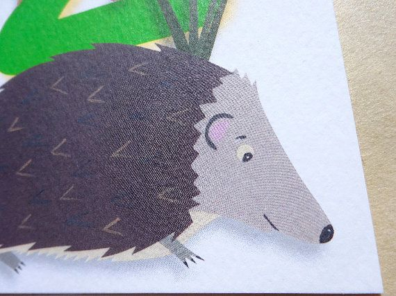 #Birthday Beasties from Luck & Judgement is a whimsical range of childishly innocent birthday cards featuring bright, bold numbers and a cast of #cute and cheeky animals. Pac... #birthdaycard #birthday #animals #child #two #hedgehog #wildlife