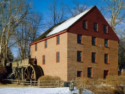 """Colvin Run Mill, Virginia  Gave tours here for 15 years!!! Lovely site...and """"All the big wheels aren't just in DC"""" (an old add campaign)"""