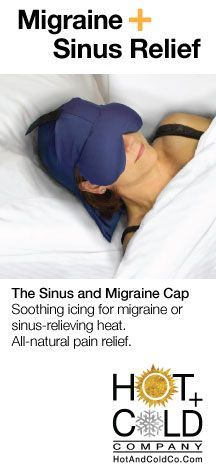 Sinus and Migraine Cap - use heat and ice at the same time to ease migraine pain