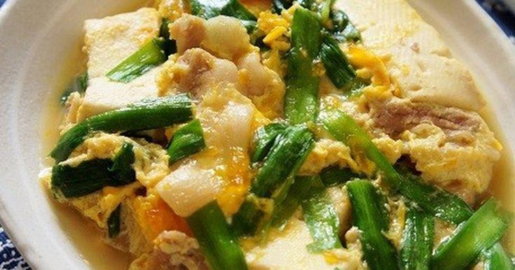 ♥レポ400件感謝です♥ ニラと豚肉でスタミナ満点! お豆腐と卵で優しい味わいも嬉しい。 家族喜ぶレシピです♡