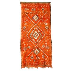 Moroccan vintage tribal rug.