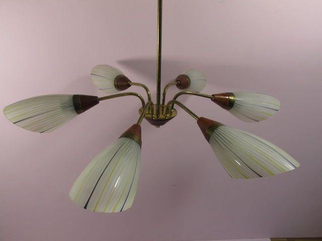 Vintage Lampe Deckenlampe Tütenlampe – 50er 60er …