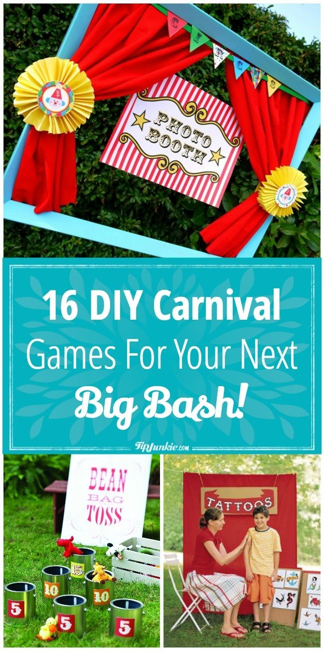 16 DIY Carnival Games for your next big bash!