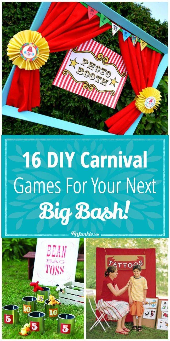 16 DIY Carnival Games For Your Next Big Bash! Diy