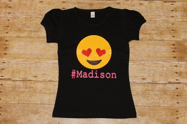 Emoji Love Shirt - Personalized - Girls Birthday Shirt