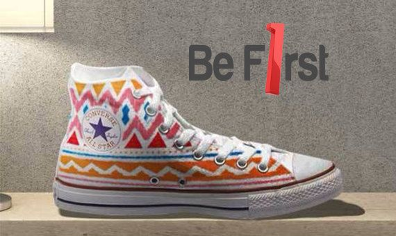 Tribal Aztec Painted Shoes - Converse on Etsy, $65.00