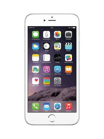 """Apple Смартфон iPhone 6 Plus, 64Gb Silver  — 57070 руб. —  Встроенная память 64 ГБ. Экран 5.5"""" 1080x1920. Управление сенсорный емкостной (мультитач). Разрешение фото 8 Мпикс. ОС iOS 8. Процессор: Apple A8."""